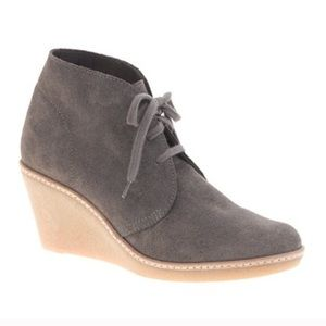 JCREW MacAlister Gray Taupe Wedge Bootie Boot Sz 9